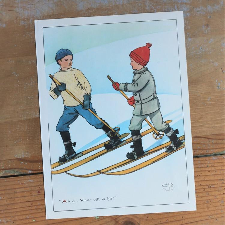 Barnkammarbild - 57 Vinter vill vi ha