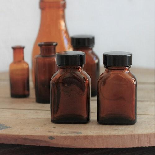 Flaska - Brunt Glas