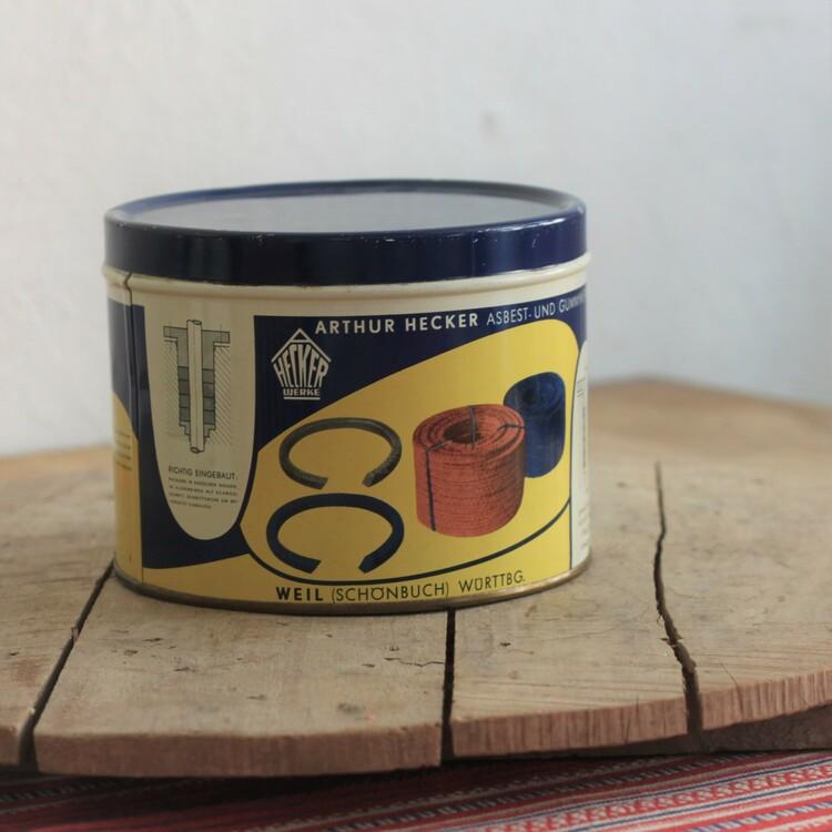 Plåtburk - Blå Gul och Vit