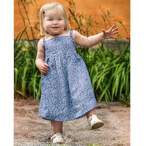 Blåblomma - klänning  st 80