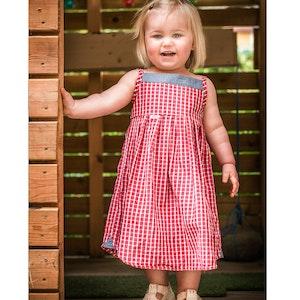 Rödruta - klänning st 80