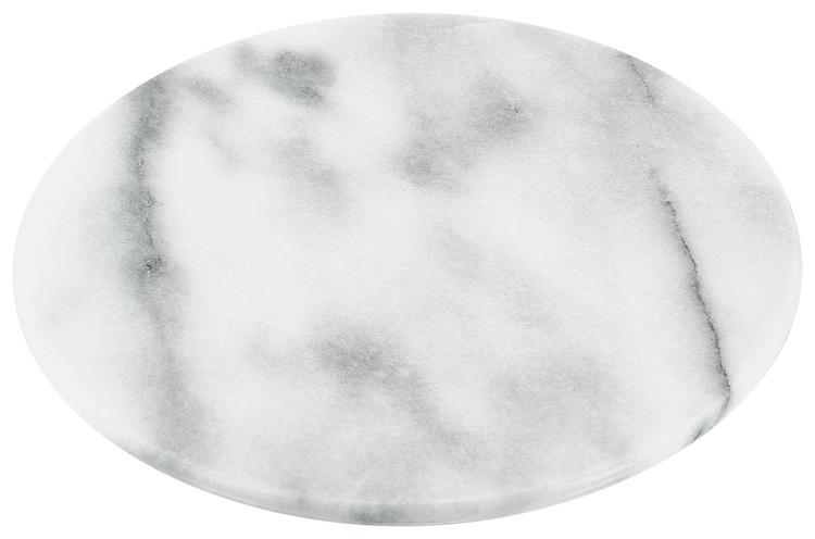 Marmor skiva rund