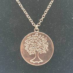Livets träd, solid, i rosé-färgat guld, 80 cm