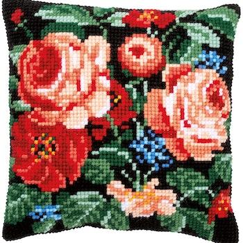 Ristipistotyyny hienostuneet ruusut I
