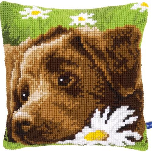 Ristipistotyyny Labradorinnoutaja