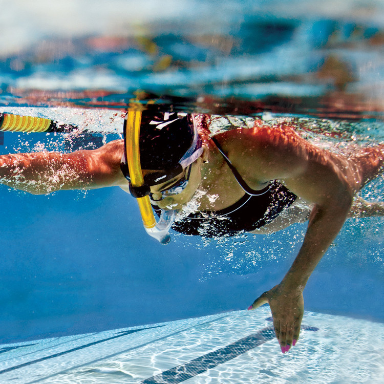 Snorkel Junior Simning Finis Gul