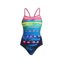 Funkita Baddräkt Flamingo Flood Single Strap