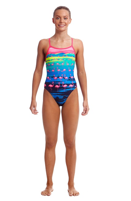 Funkita Baddräkt Junior Flamingo Flood