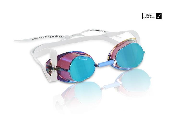 Malmsten Simglasögon monterbara metallic Blue Oil