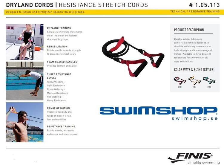 Dryland Cord Träningsband Simning