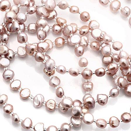 Pärlat halsband  Pink Blush