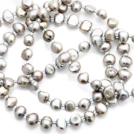 Pärlat halsband Shades of Grey