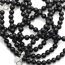 Pärlat halsband onyx