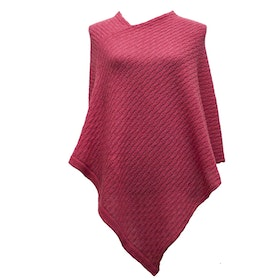 Poncho Tukk old rose