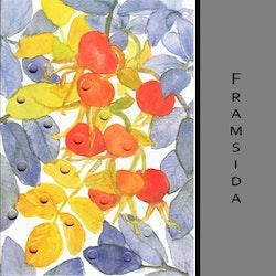 Akvarellkort - Nyponblad