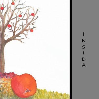 Akvarellkort - Äpplen