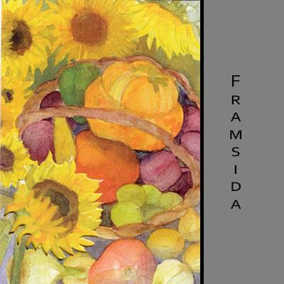 Akvarellkort - Solrosor