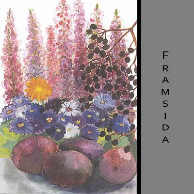 Akvarellkort - Plommon
