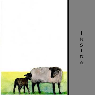 Akvarellkort - Får