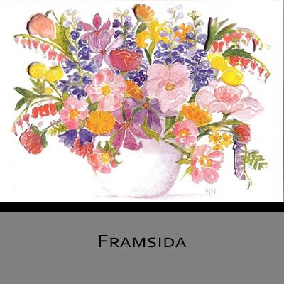 Akvarellkort - Sommarbukett