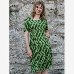 Klänning Löv - grön