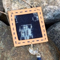 Halsband Shibori