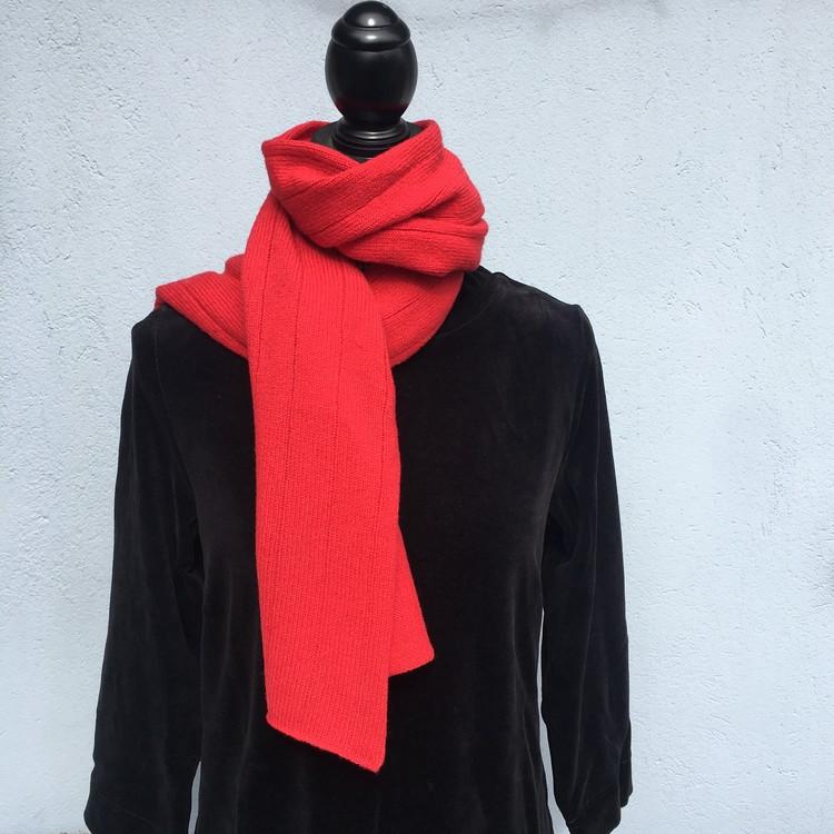 Halsduk Randig röd