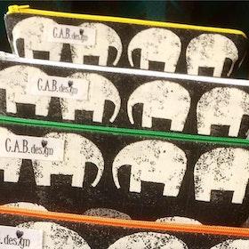 Necessär elefanter gul