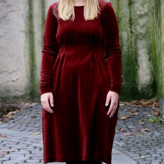 Klänning Velour - vin