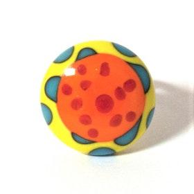 Ring i glas - orange