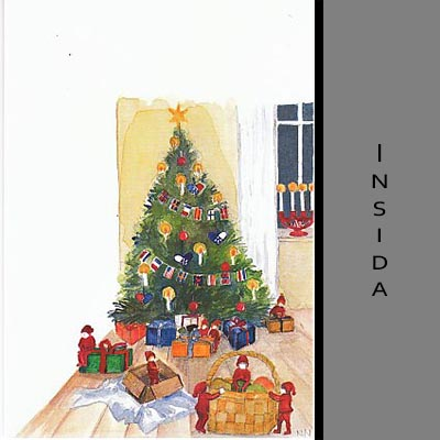 Akvarellkort - Snickarglädje