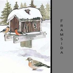 Akvarellkort - Fågelhus