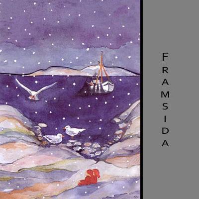 Akvarellkort - Julfiske