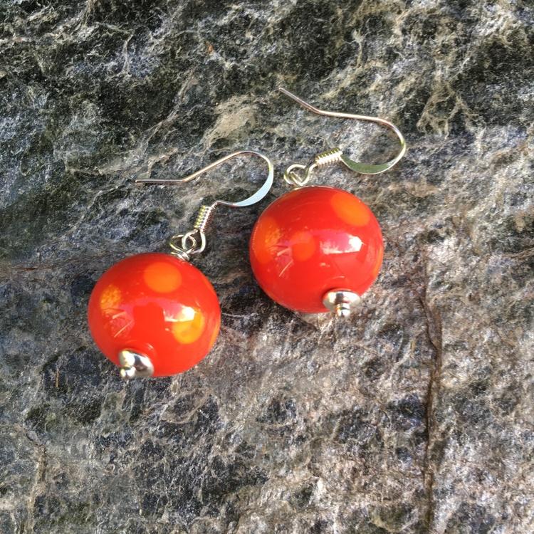 Örhängen röd/orange