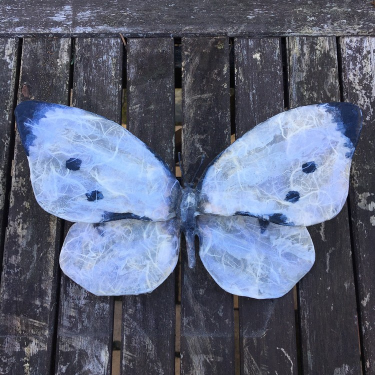 Fjäril Vit
