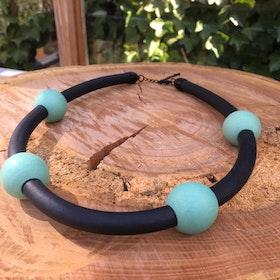 Halsband gummi grönt