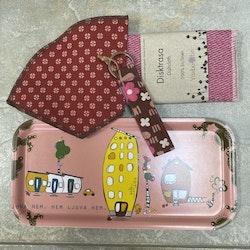 Bricka rosa set