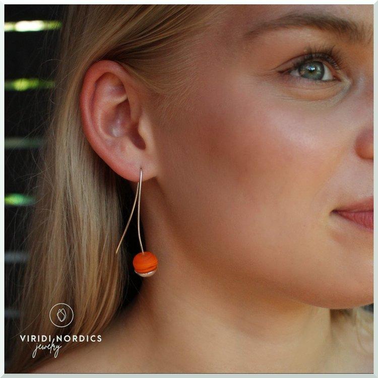 Örhänge Adelina orange