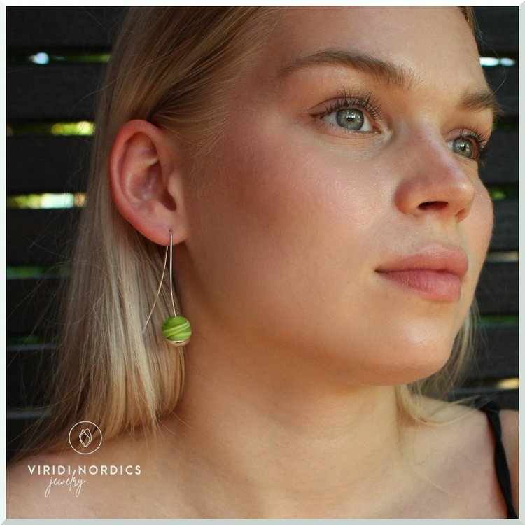 Örhänge Adelina grön