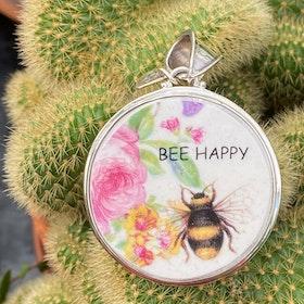 Berlock  Bee happy rosa