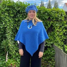 Poncho Tukk blå