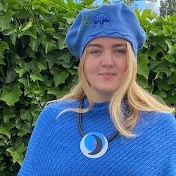 Halsband blått
