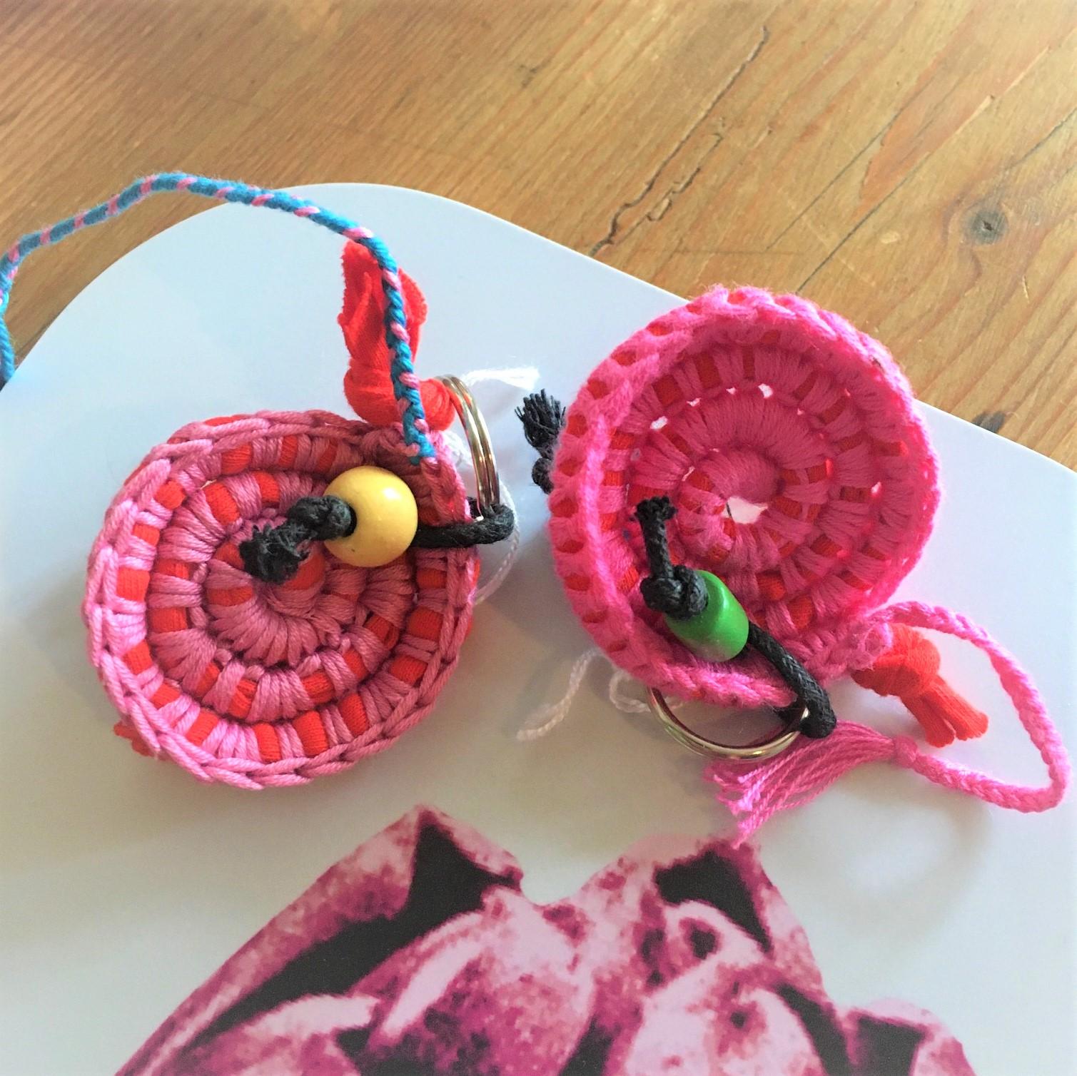 Nyckelring rosa