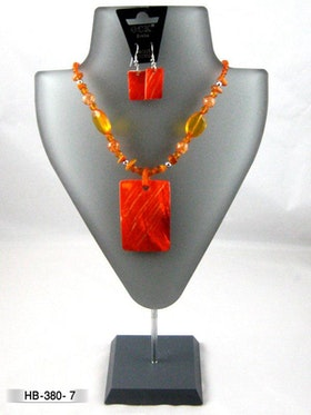 Halsband snäckskal med örhänge