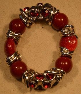Armband röd fest