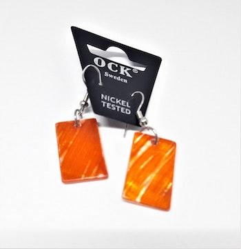 Örhänge av snäckskal, orange