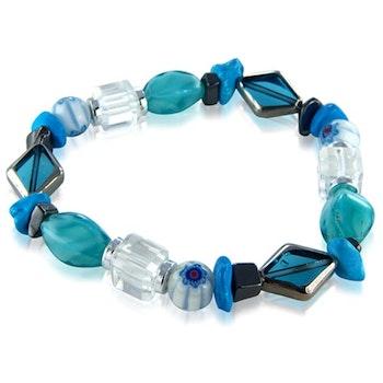Turquoise Cristallo Carousel armband