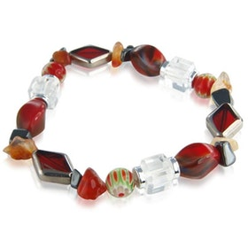 Röd Cristallo Carousel armband