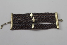 Handgjort läderarmband med mässingdetaljer, Ettika design, California