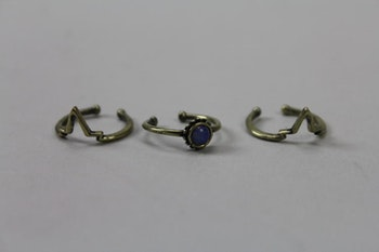 Handgjord tredelad ring med opal, Ettika design, California